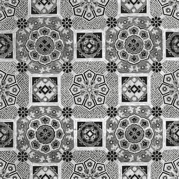 Abstrato floral mosaico telha vintage ornamento Foto stock © cosveta