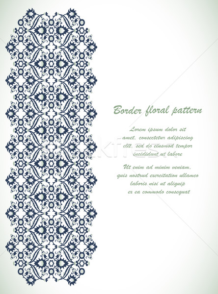 Klasszikus díszes keret damaszt virágmintás dekoráció Stock fotó © cosveta