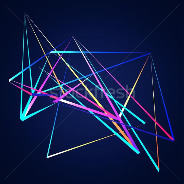 Colorido líneas formas resumen aislado azul Foto stock © cosveta