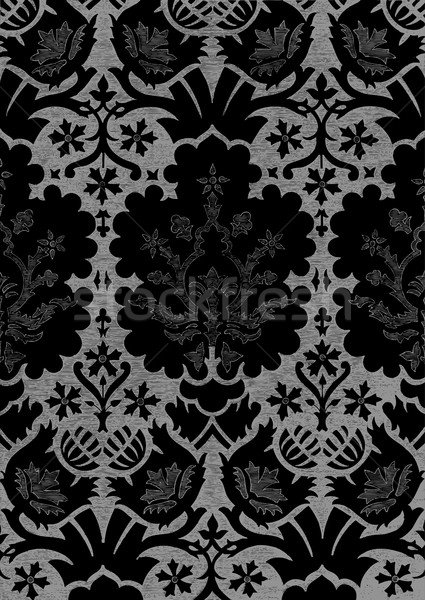 Abstract hand-drawn floral seamless pattern, vintage background Stock photo © cosveta