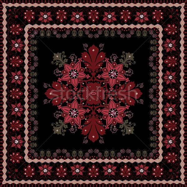 abstract ethnic shawl floral pattern design Stock photo © cosveta
