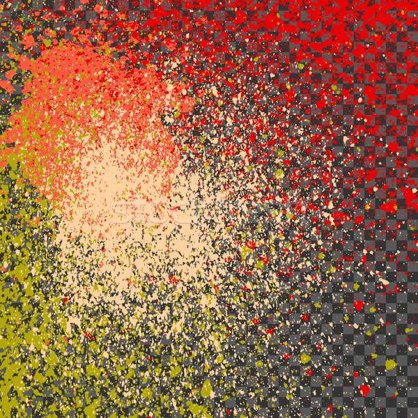 Splatter paint neon shine decoration acrylic, dust flow vector,  Stock photo © cosveta