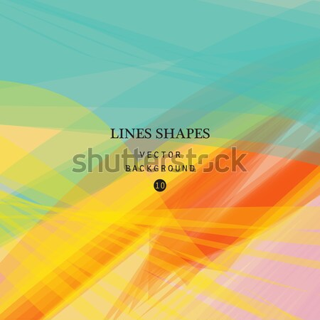Сток-фото: красочный · аннотация · вектора · баннер · прозрачный · волна