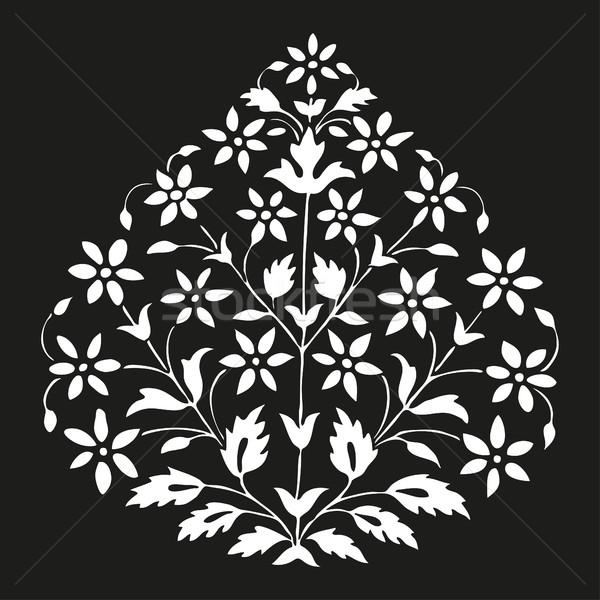 Simétrico planta flores folha preto Foto stock © cosveta
