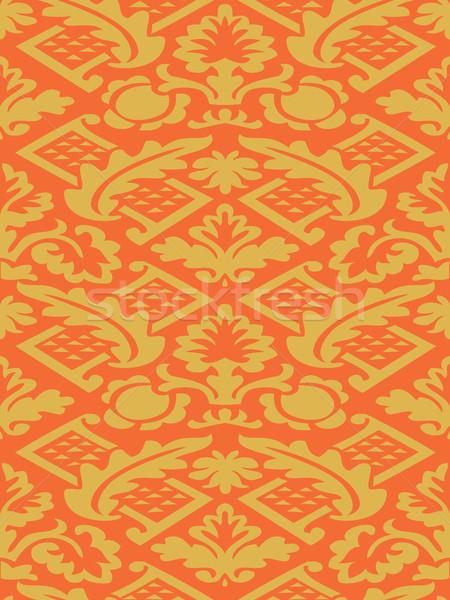 ベクトル カラフル ダマスク織 シームレス フローラル パターン ストックフォト © cosveta