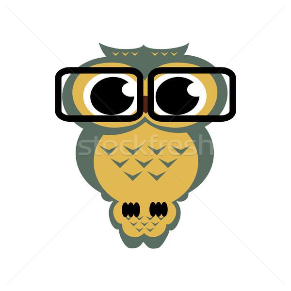 Vector búho gafas aislado Cartoon ilustración Foto stock © cosveta