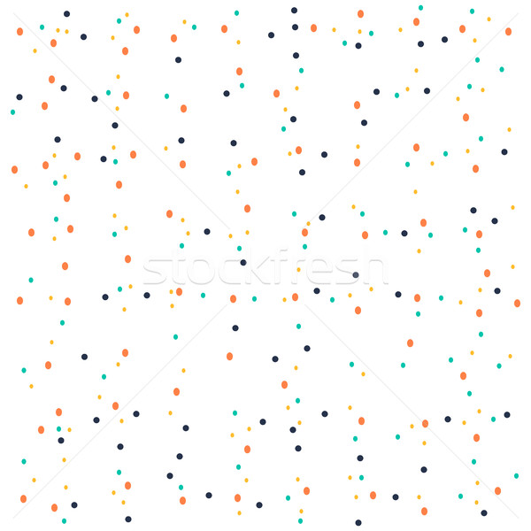 Seamless pattern with multicolored small circles on white abstra Stock photo © cosveta
