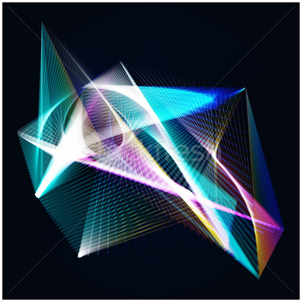 линия свет аннотация синий темно Сток-фото © cosveta