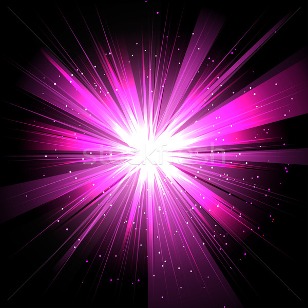 Star with rays white purple in space isolated and effect tunnel  Stock photo © cosveta