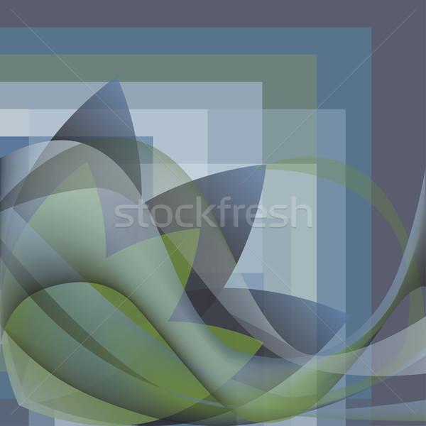 Colorido abstrato flor ondas praça gradiente Foto stock © cosveta