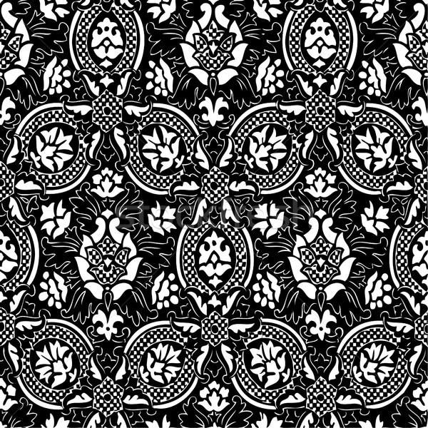 Stok fotoğraf: Siyah · beyaz · soyut · model · bağbozumu