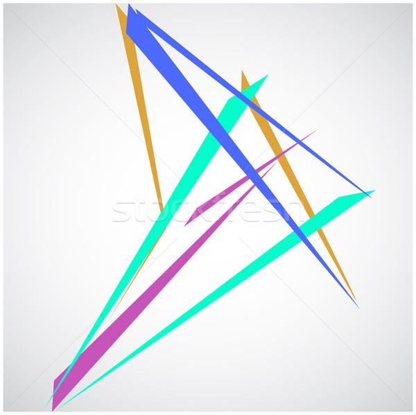 Coloré lignes résumé isolé blanche Photo stock © cosveta