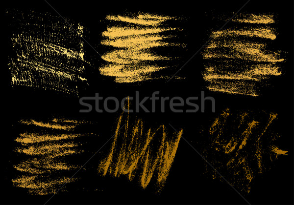 Vektör altın kömür el çizim soyut Stok fotoğraf © cosveta