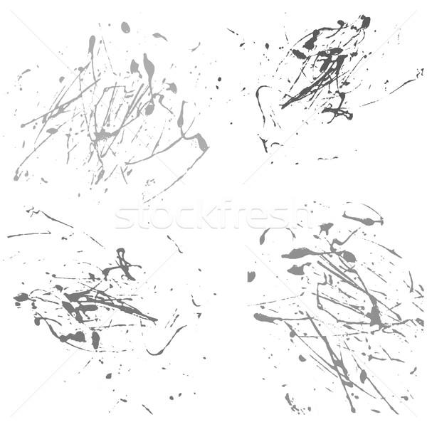 Vetor agitar-se pintar abstrato branco conjunto Foto stock © cosveta