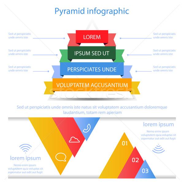 Business pyramid infographic vector Stock photo © cosveta