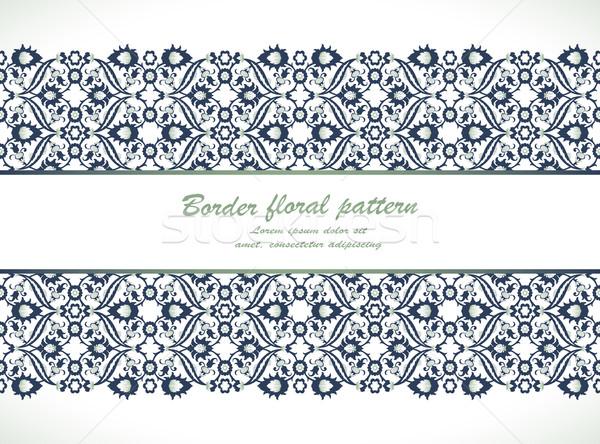 Dantelă damasc fara sudura frontieră decorare Imagine de stoc © cosveta