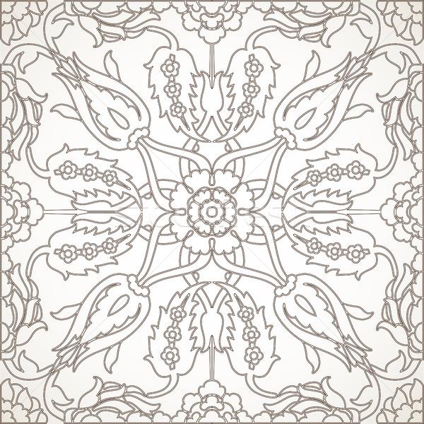 Arabesque vintage element outline for design template vector Stock photo © cosveta