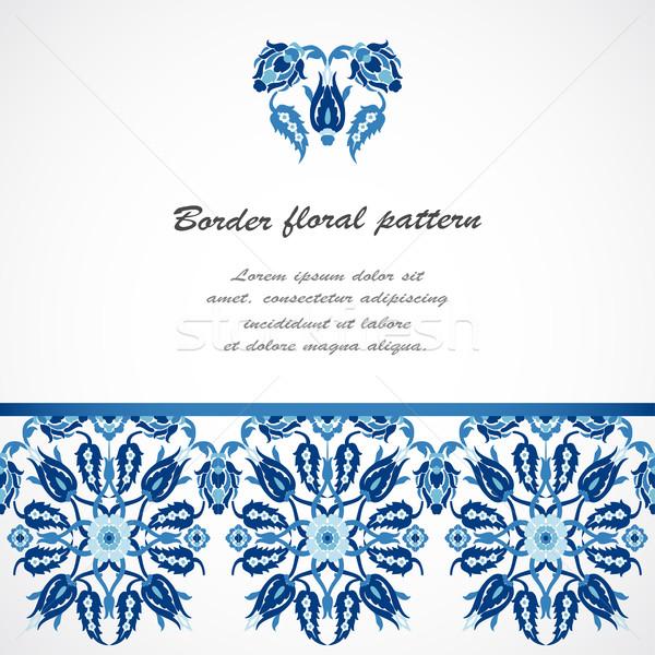 レース ダマスク織 シームレス 国境 フローラル 装飾 ストックフォト © cosveta