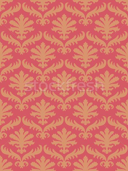 вектора красочный дамаст бесшовный цветочный шаблон Сток-фото © cosveta