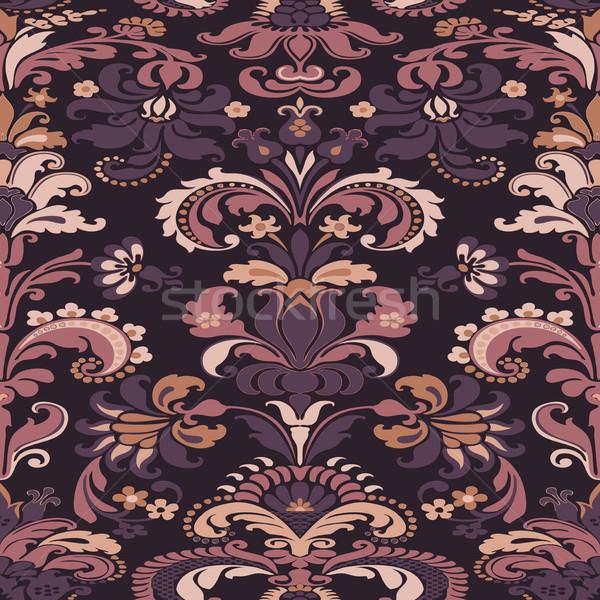 Wrapping wallpaper floral seamless tile for website vector, repe Stock photo © cosveta