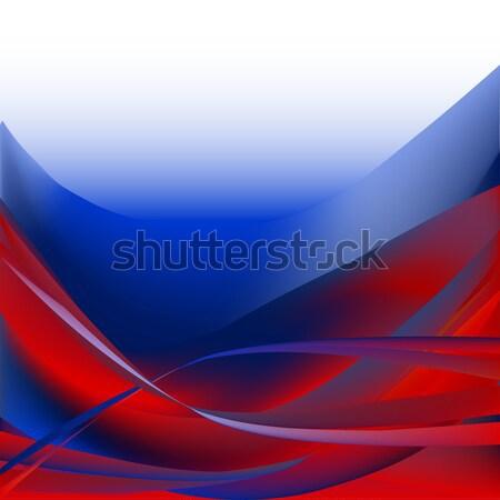 Renkli dalgalar yalıtılmış soyut kırmızı mavi Stok fotoğraf © cosveta