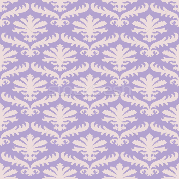 Wektora kolorowy adamaszek bezszwowy kwiatowy wzór Zdjęcia stock © cosveta