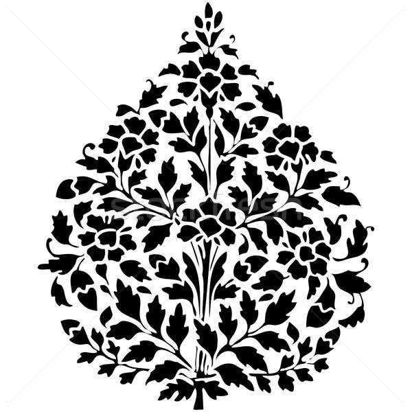 Simétrico planta flores folha branco Foto stock © cosveta