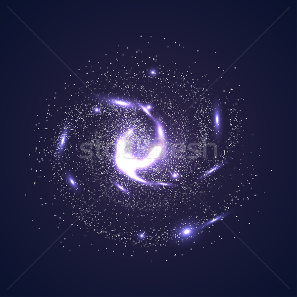 Image of galaxies, nebulae, cosmos, and effect tunnel spiral gal Stock photo © cosveta