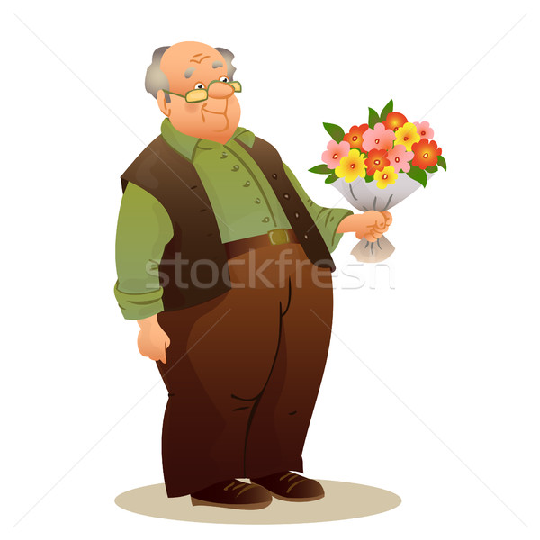 Divertente vecchio occhiali anziani uomo Foto d'archivio © cosveta