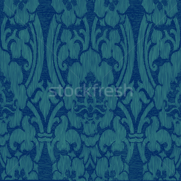Sem costura azul abstrato listrado floral padrão Foto stock © cosveta