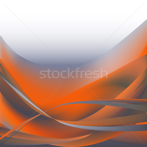 Photo stock: Coloré · vagues · isolé · résumé · orange · gris