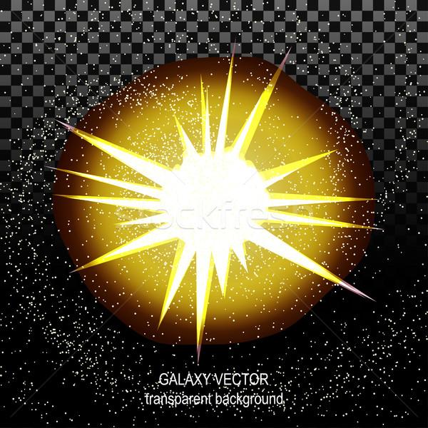 Star stralen witte Geel ruimte geïsoleerd Stockfoto © cosveta