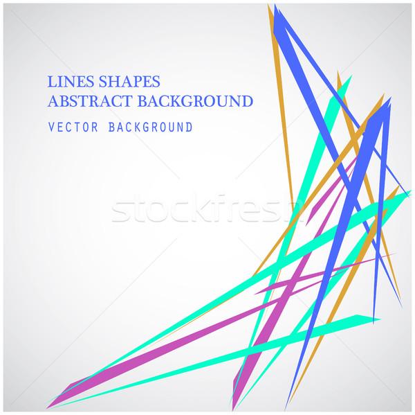 Colorido líneas formas resumen aislado blanco Foto stock © cosveta