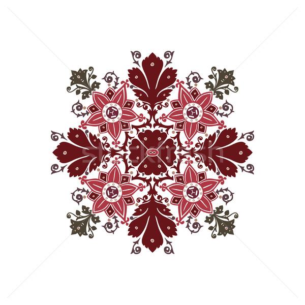 étnicas flores ramo ornamento aislado vector Foto stock © cosveta