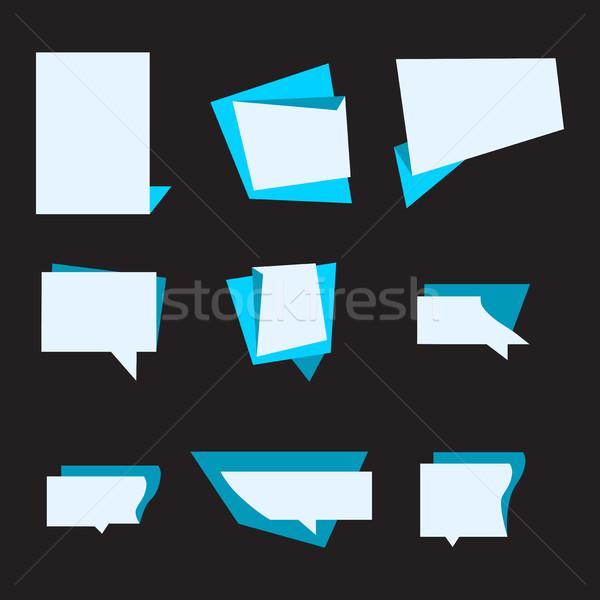 Vector ingesteld aankondiging banner stickers Stockfoto © cosveta