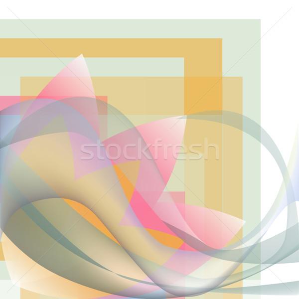 Köşe model dalgalar çiçek geometrik renkli Stok fotoğraf © cosveta