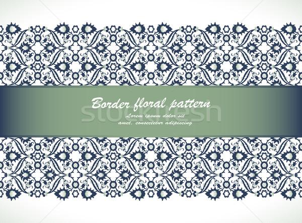 Renda damasco sem costura fronteira floral decoração Foto stock © cosveta