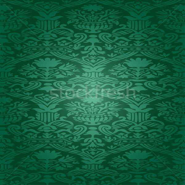 Verde sem costura abstrato floral padrão vintage Foto stock © cosveta