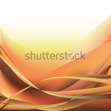 Photo stock: Coloré · vagues · isolé · résumé · jaune · blanche