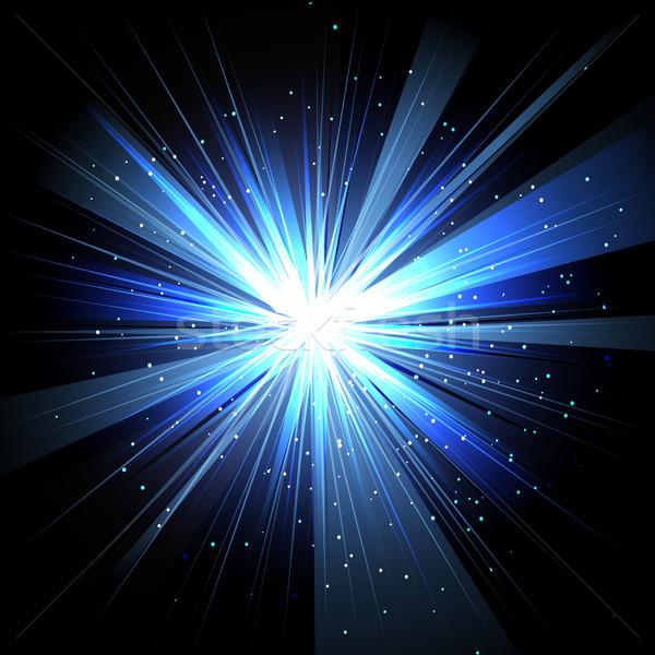 Star raggi bianco blu spazio isolato Foto d'archivio © cosveta