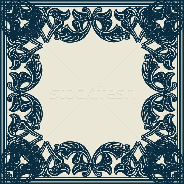Vektor díszes keret keleti stílus káprázatos Stock fotó © cosveta