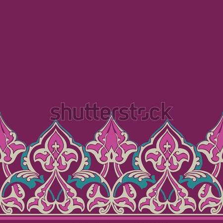 Vector ornate seamless border in Eastern style Stock photo © cosveta