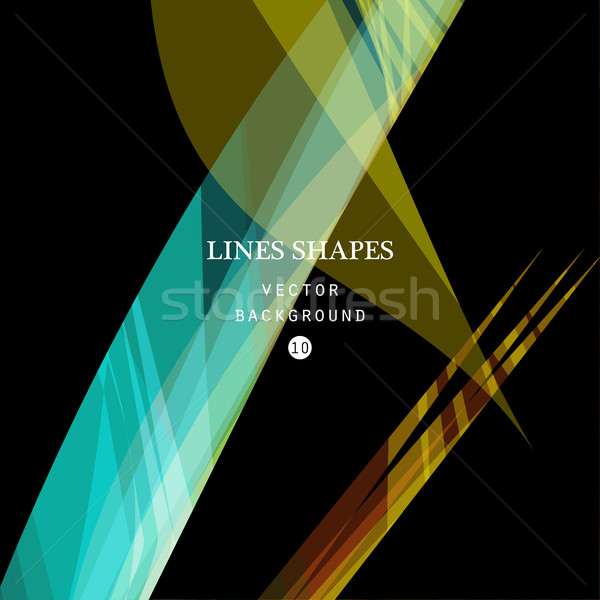 Bright colorful modern striped abstract background vector. Black Stock photo © cosveta
