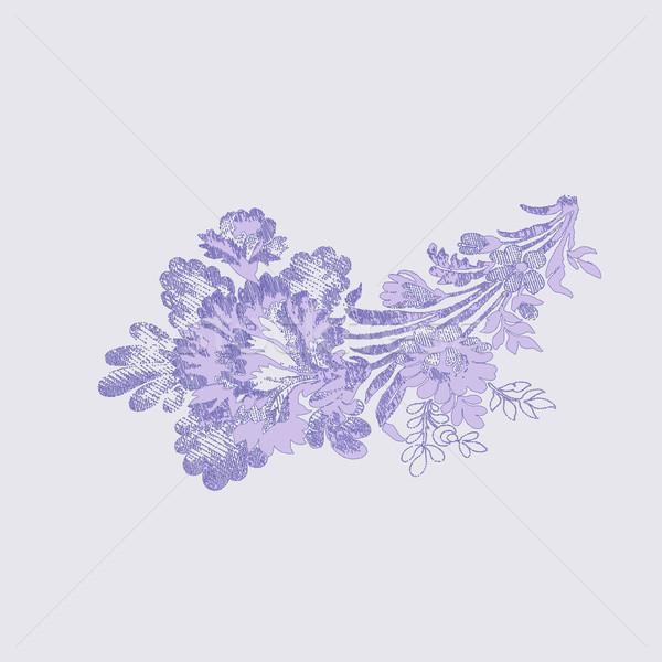 Belo flores buquê vetor elemento Foto stock © cosveta