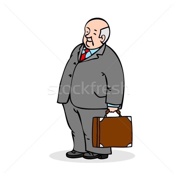 Viejo maleta negocios ancianos hombre Foto stock © cosveta