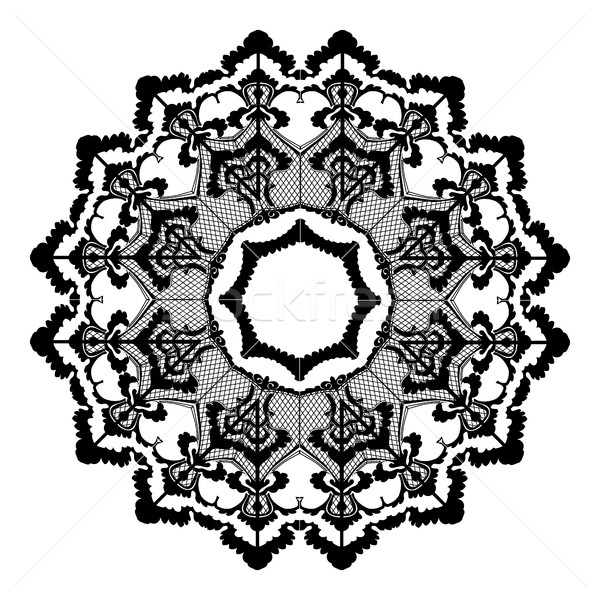 Vector round lace flower vintage, circle background with many details Stock photo © cosveta