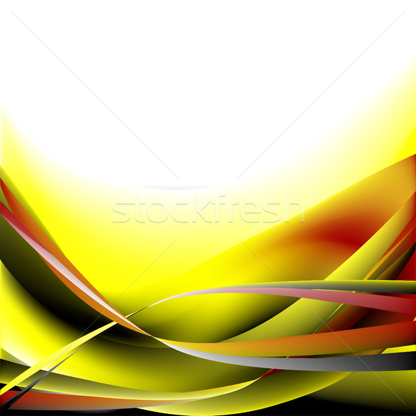 Colorful waves isolated abstract background yellow and white black Stock photo © cosveta