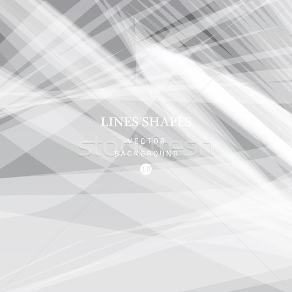 Moderno listrado abstrato vetor cinza branco Foto stock © cosveta