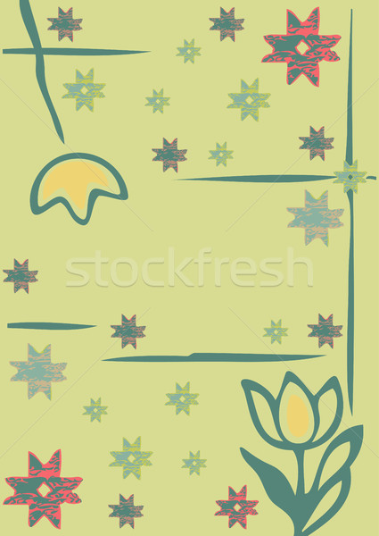 Fiori inverno fiocchi di neve silhouette allegro Foto d'archivio © cosveta
