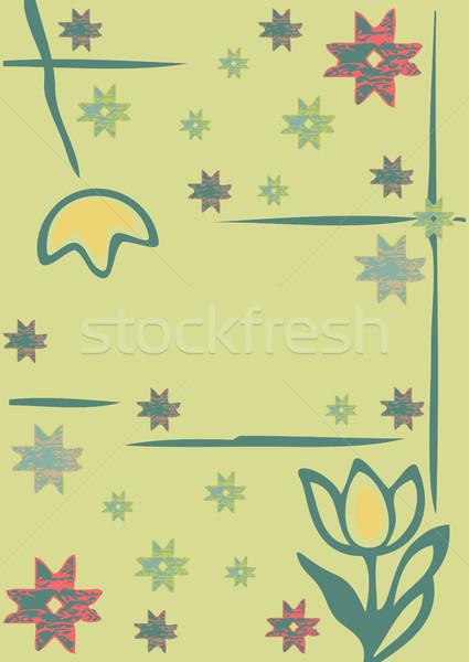 цветы зима силуэта веселый Сток-фото © cosveta